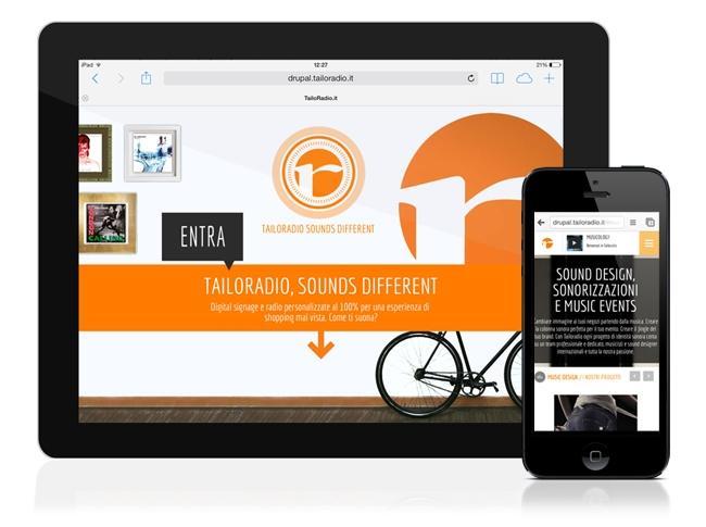 Nuovo sito Tailoradio, anche su mobile