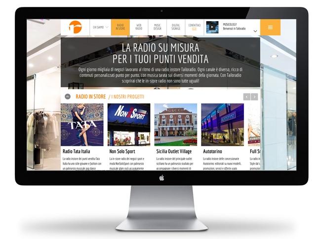 Nuovo sito Tailoradio, sezione radio instore