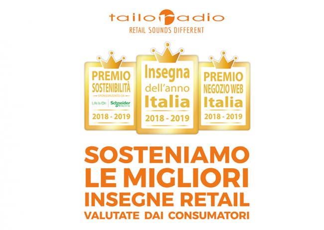 """Tailoradio è Platinum Sponsor di """"Insegna dell'anno 2018-2019""""!"""