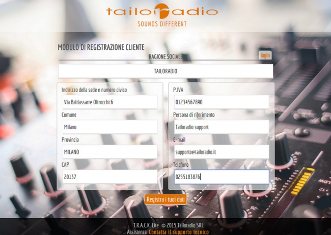 tailoradio_radio_instore_music_design_personalizzato_background_music_digital_signage_negozi_store_track_lite_software_applicazione_novità_schermata_registrazione