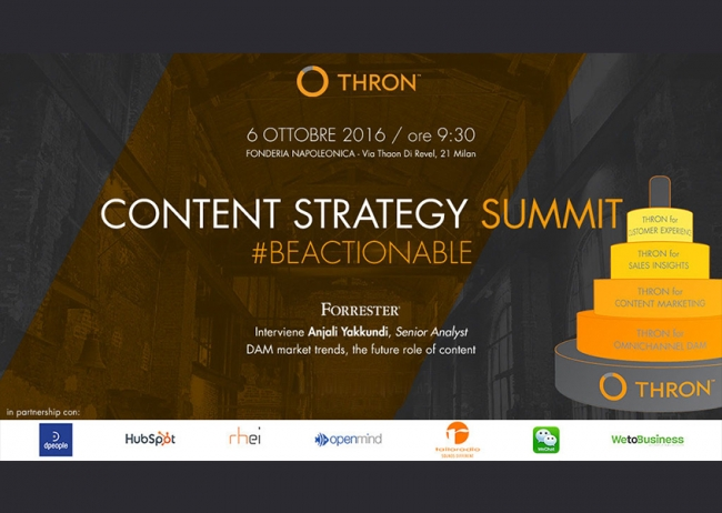Tailoradio è partner del THRON Content Strategy Summit!